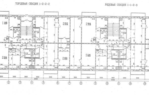 План этажа дома 1-464