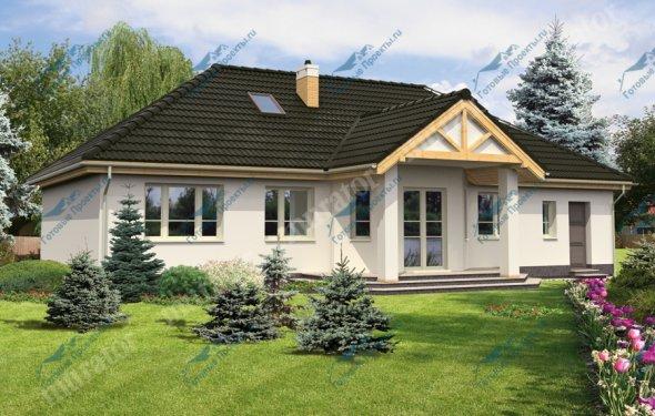 Проект кирпичного дома М048