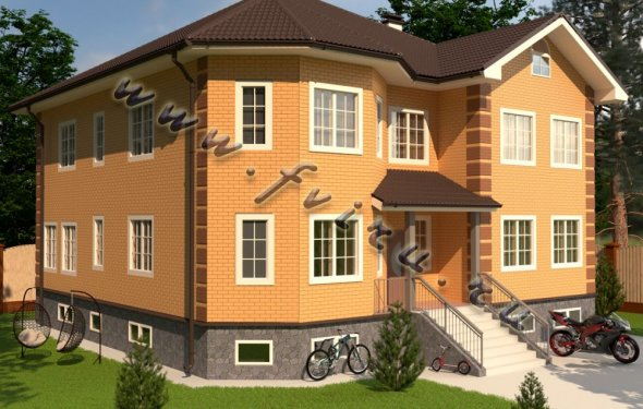 Проект кирпичного дома 598,5